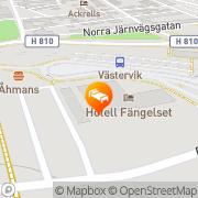 Karta Hotell Fängelset Västervik, Sverige