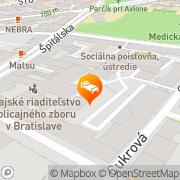 Map Bratislava Apartments Bratislava, Slovakia
