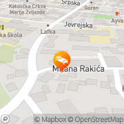 Map Hotel Atina Banja Luka, Bosnia and Herzegovina