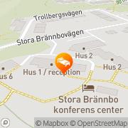 Karta Stora Brännbo Konferens & Hotell Sigtuna, Sverige