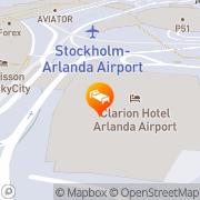 Karta Clarion Hotel Arlanda Airport Stockholm, Sverige