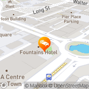 Map Fountains Hotel Cape Town, South Africa