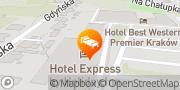 Mapa Best Western Efekt Express Krakow Hotel Kraków, Polska