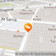 Map Gran Derby Barcelona, Spain