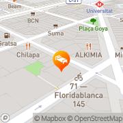 Map Hostal Centric Barcelona, Spain