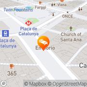 Map Hotel Continental Barcelona Barcelona, Spain