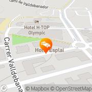 Map Hotel Esplai Calella, Spain