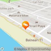 Map Apartamentos Pil.lari Playa El Arenal, Spain