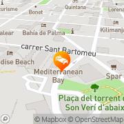 Map Hotel Luna Park El Arenal, Spain