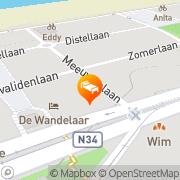 Map Zeester Suitehotel Westende, Belgium