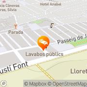 Map Hotel Metropol Lloret de Mar, Spain