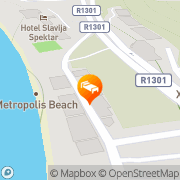 Map Villa Swiss Ohrid, Macedonia