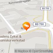 Karta Hotell Nivå Boden, Sverige