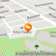 Map Volos Palace Volos, Greece