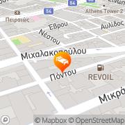 Map Airotel Stratos Vassilikos Hotel Athens, Greece