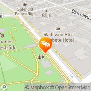 Map Radisson Blu Elizabete Hotel Riga, Latvia