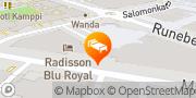 Kartta Radisson Blu Royal Hotel, Helsinki Helsinki, Suomi