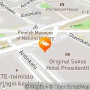 Map Original Sokos Hotel Presidentti Helsinki, Finland