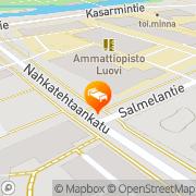 Kartta Kesähotelli Oppimestari Oulu, Suomi