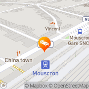 Map New Grand Hotel Mouscron, Belgium