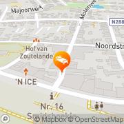 Kaart Willebrord Hotel Zoutelande, Nederland