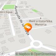 Map Apartamentos Vista Playa I-II Cala Blanca, Spain