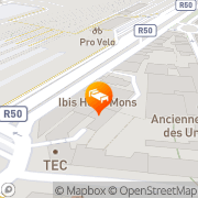 Map Ibis Mons Centre Gare Mons, Belgium