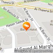 Map Baron Hotel Heliopolis Cairo, Egypt