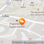 Map Daphne Hotel Apartments Paphos, Cyprus