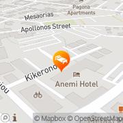 Map Anemi Hotel Apartments Paphos, Cyprus