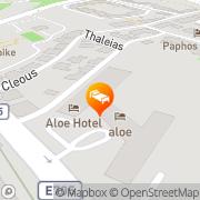 Map Aloe Hotel Paphos, Cyprus