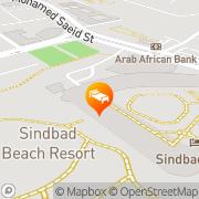 Map Sindbad Club Aqua Park & Resorts Hurghada, Egypt