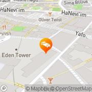 Map Palatin Hotel Jerusalem, Israel