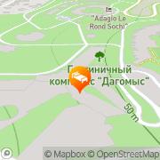 Map Olympiysky.Dagomys Hotel & Resort Sochi, Russia