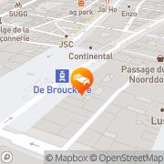 Map Hotel Metropole Brussels, Belgium