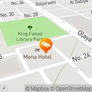Map Mena Riyadh Hotel Riyadh, Saudi Arabia