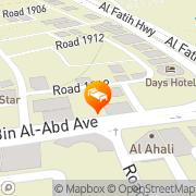 Map Landmark Suites Manama, Kingdom of Bahrain