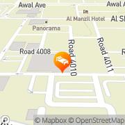 Map Ramee International Hotel Manama, Kingdom of Bahrain