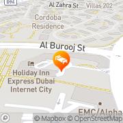 Map Holiday Inn Express - Dubai Internet City Dubai, United Arab Emirates
