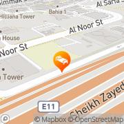 Map Fraser Suites Dubai Dubai, United Arab Emirates