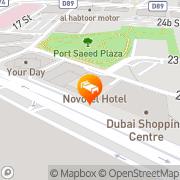 Map Novotel Deira City Centre Dubai, United Arab Emirates