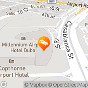 Map Millennium Dubai Airport Hotel Dubai, United Arab Emirates