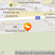 Carte de Starling Hotel at EPFL Saint-Sulpice, Suisse