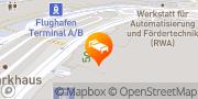 Karte Sheraton Duesseldorf Airport Hotel Düsseldorf, Deutschland