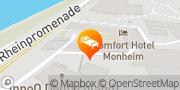 Karte Comfort Hotel Monheim Monheim, Deutschland