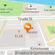 Map Malahit Hotel Chelyabinsk, Russia