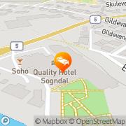 Map Quality Hotel Sogndal Sogndal, Norway
