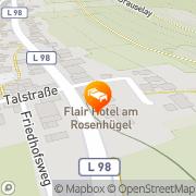 Karte Flair Hotel am Rosenhügel Cochem, Deutschland