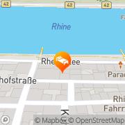 Karte Best Western Bellevue Rheinhotel Boppard, Deutschland
