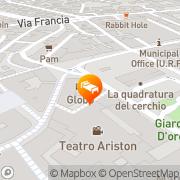 Map Hotel Globo Sanremo, Italy